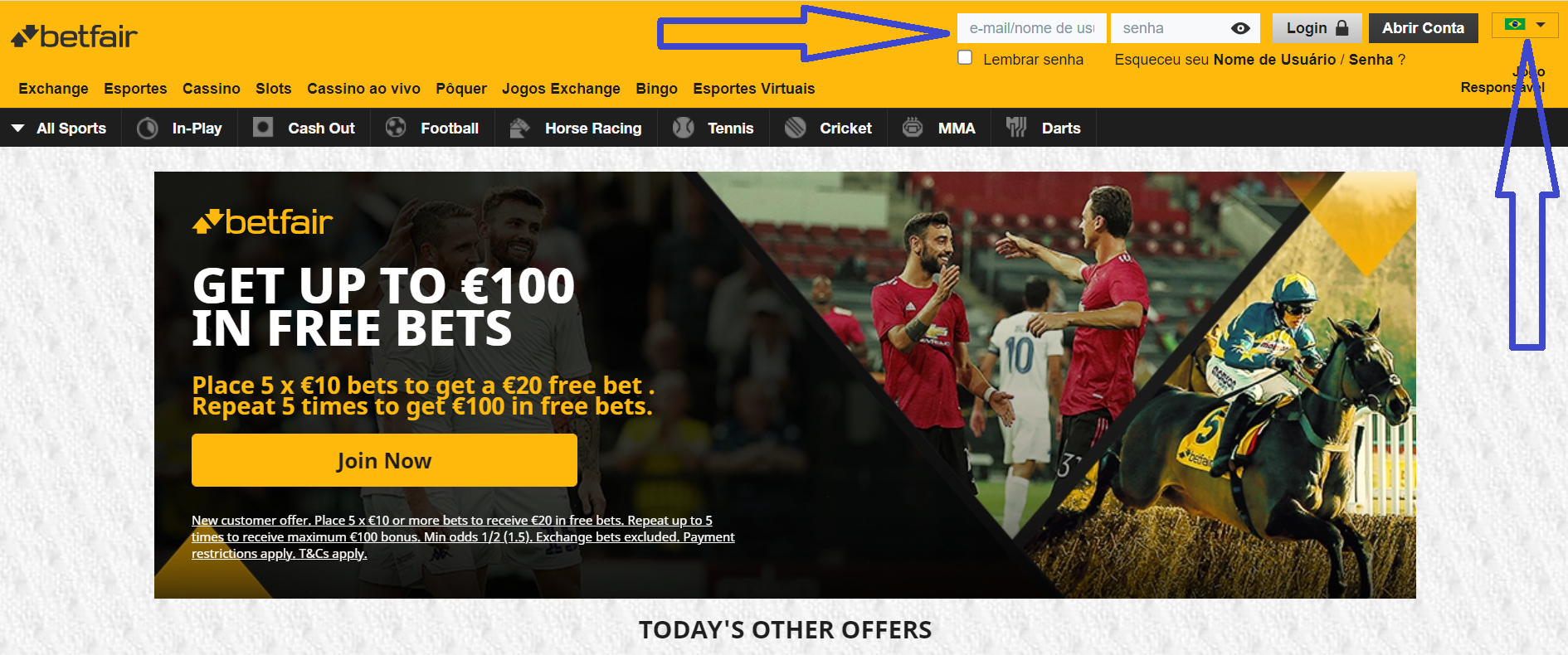 Betfair Intercâmbio
