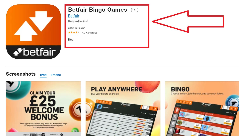 Apostas avec Betfair app